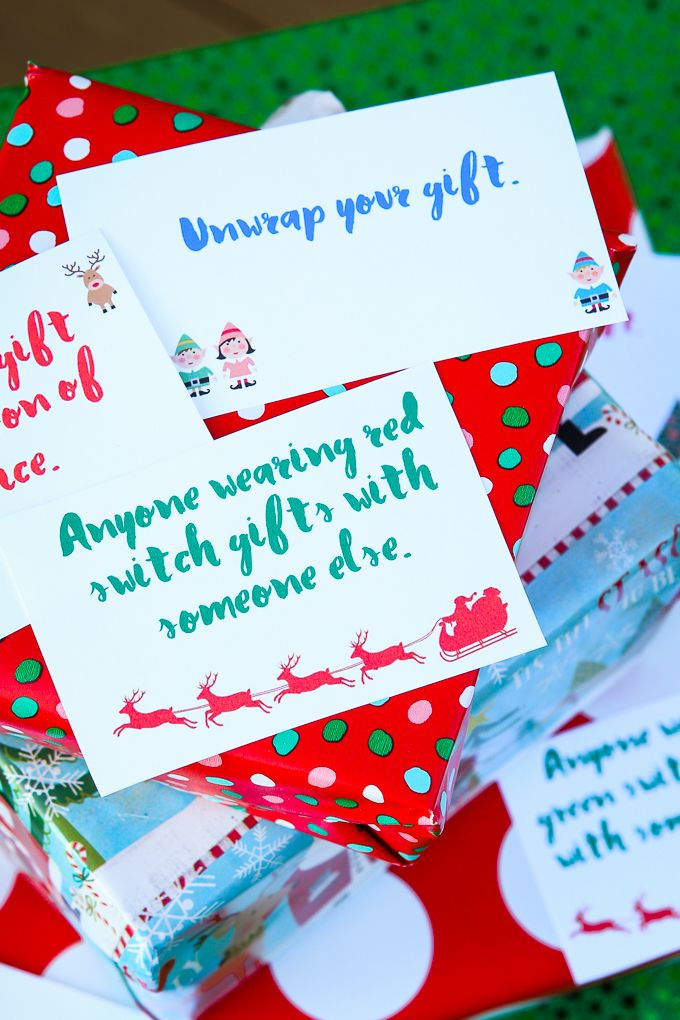 Free Printable Gift Exchange Card Game