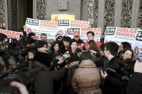Los alumnos se rebelan contra Wert / @el_pais   #universidadencrisis