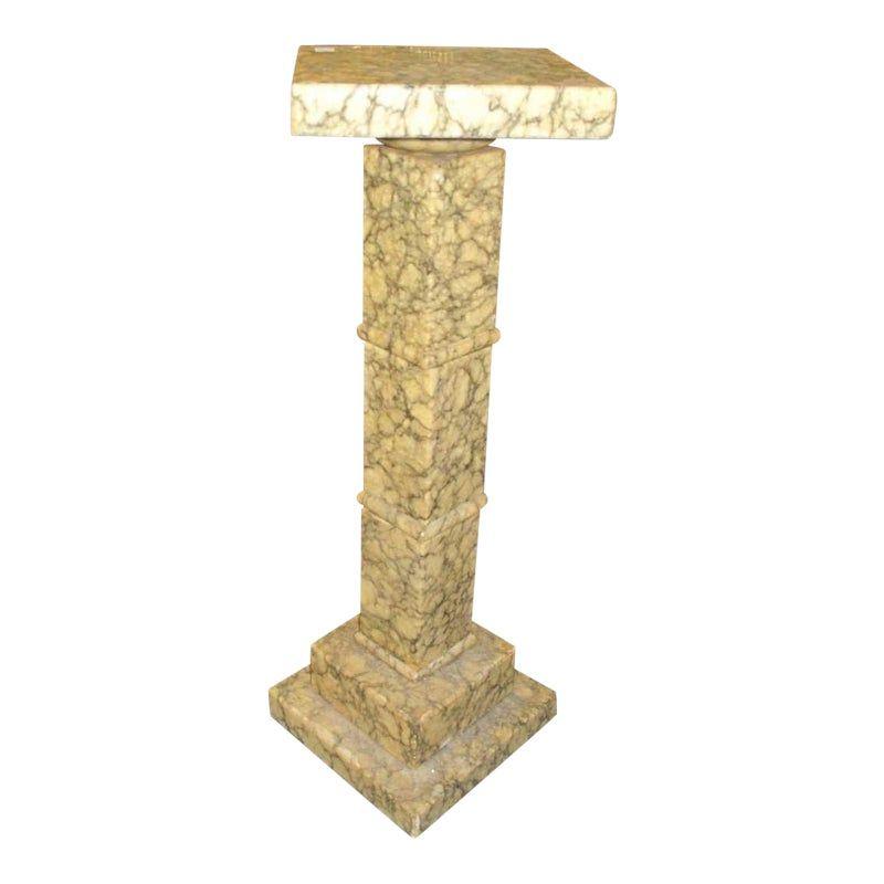 1910s Art Nouveau Marble Display Pedestal Display Pedestal Art Nouveau Marble