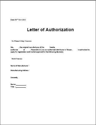 authorization letter sample template free word pdf documents - sample letters