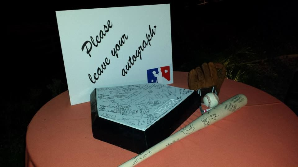 Phenomenal Vintage Baseball Wedding Signed Guest Book Bat And Home Download Free Architecture Designs Rallybritishbridgeorg