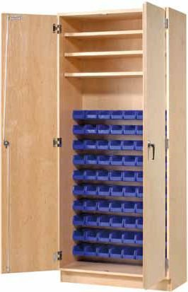 Parts Storage Cabinet W 80 Bins Storage Locking Storage