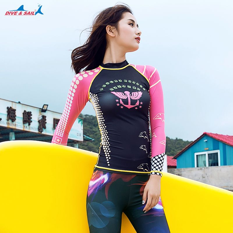 e5a035fac31 Split Diving Suit Women s Swimsuit Jellyfish Clothing Sunscreen Long Sleeve  Trousers Korean Snorkeling Surfing Swimming  Affiliate