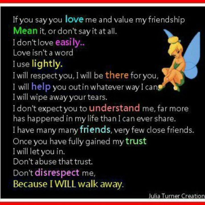 If You Say You Love Me And Value My Friendship No Matter How Many