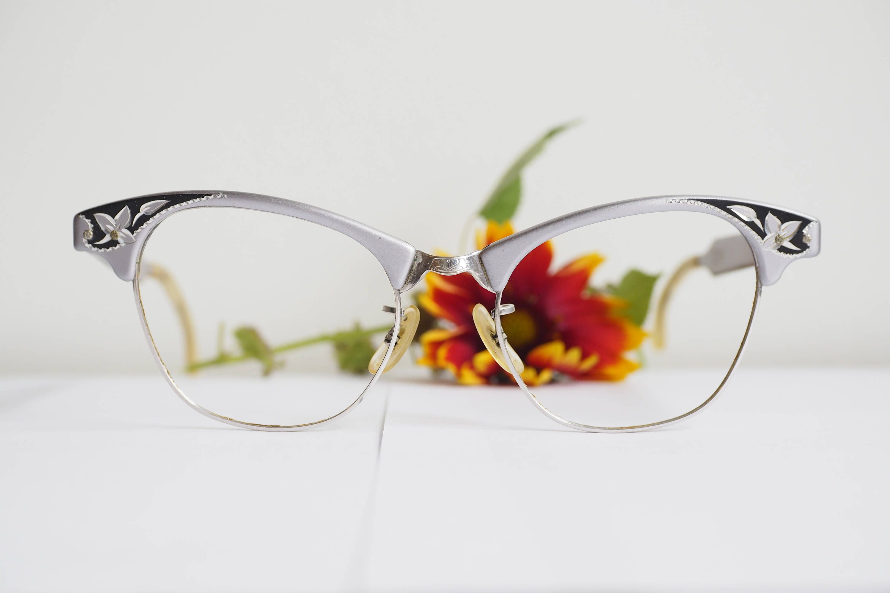 31deb8ee6f5 Vintage Cat Eye Glasses 1960 s Cateye Frames By Artcraft Made In USA  Eyeglasses All Metal 12k Gold filled by hisandhervintage on Etsy