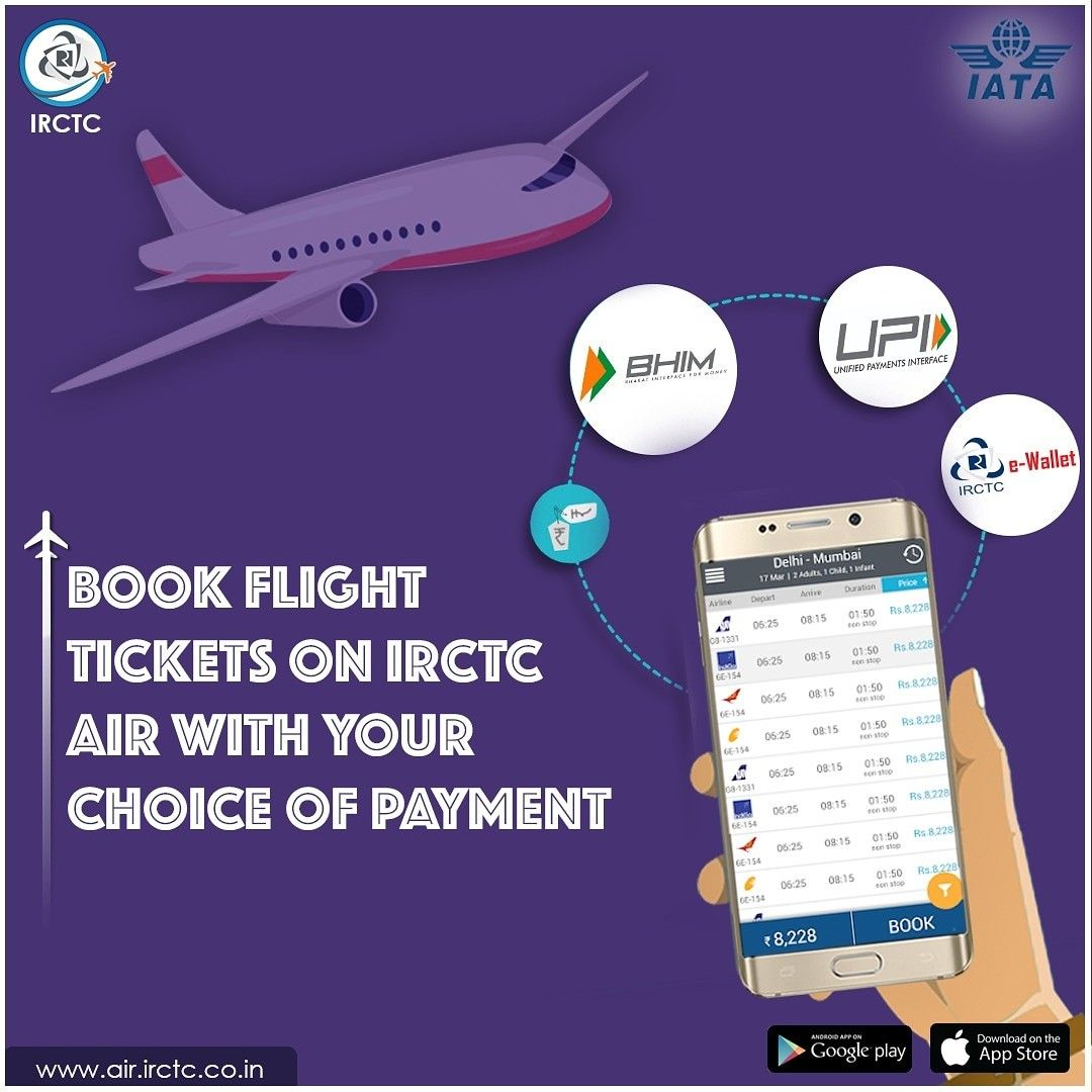 Pin by IRCTC Official on Flight Bookings Air tickets