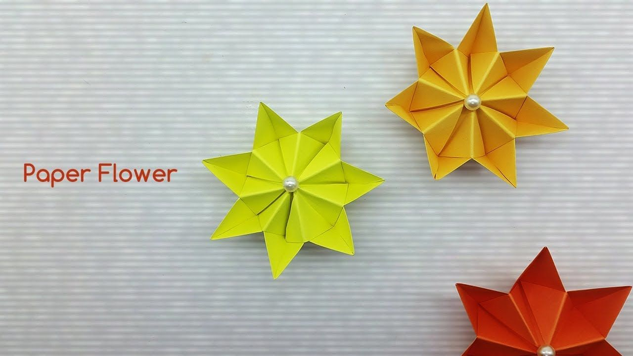 Easy Paper Flower Making Tutorial Diy Paper Craft Ideas Colors