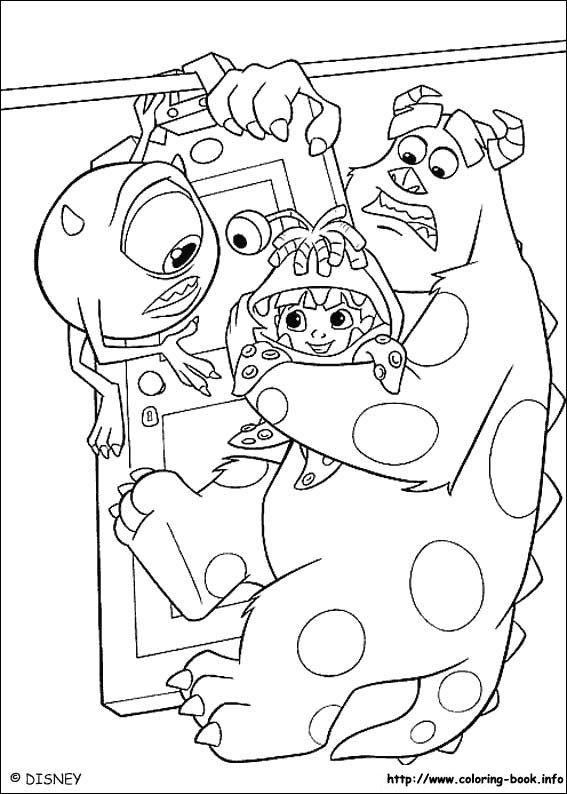 Monsters Inc Coloring Picture Coloring And Activities Pinterest