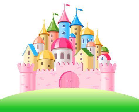 Transparent Pink Castle Png Clipart Castle Cartoon Clip Art Pink Castle