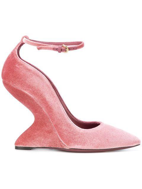 34f64de897f8e SALVATORE FERRAGAMO sculpted-heel pumps.  salvatoreferragamo  shoes ...