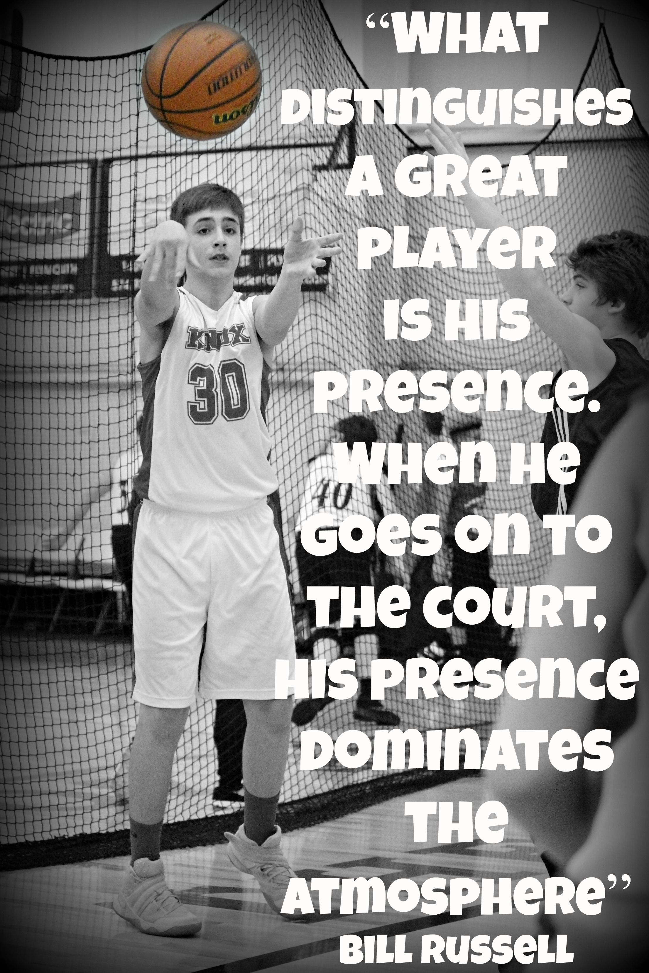Great Basketball Quotes What Distinguishes A Great Player Is His Presencewhen He Goes On