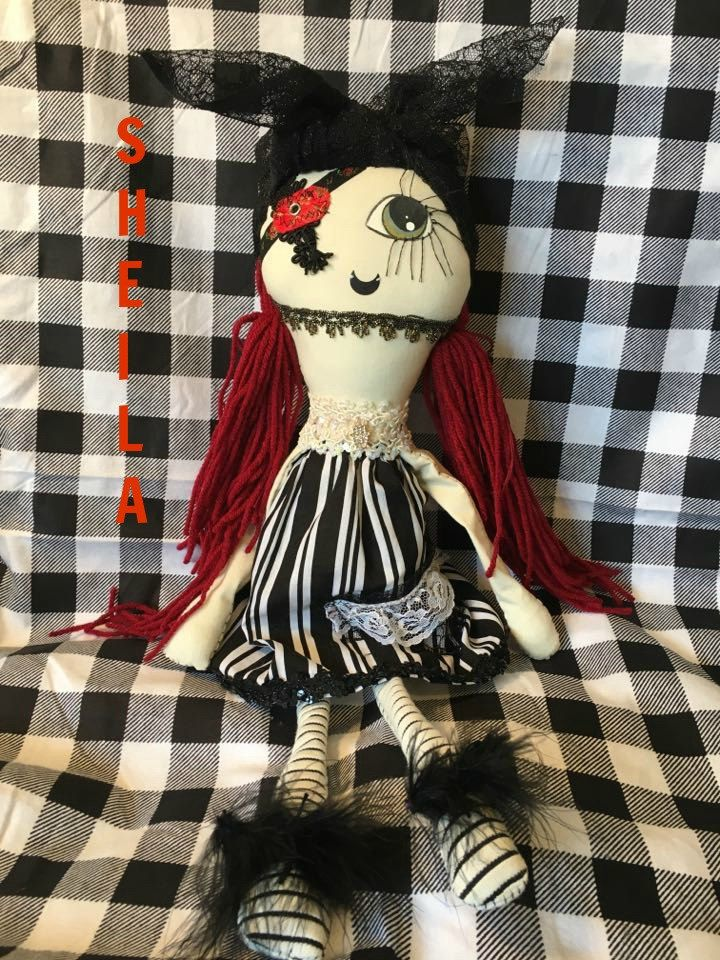 grunge monster dolls,handmade dolls,handmade monster,hand sewn dolls,hand sewn monsters,creepy dolls,gothic dolls, dolls, primitive dolls, by DDSMASCOTMONSTERS on Etsy