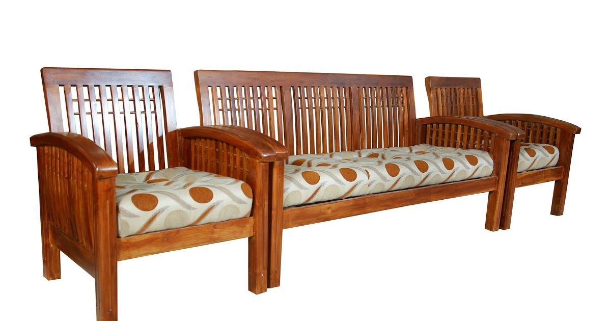 Dallas Teak Wood Sofa Set 3 1 1 Seater Teakpark Crisso Teakwood 3 1 1 Sofa Set Natural Finish Teak Wood Sof In 2020 Wood Sofa Wooden Sofa Set Designs Wooden Sofa Set