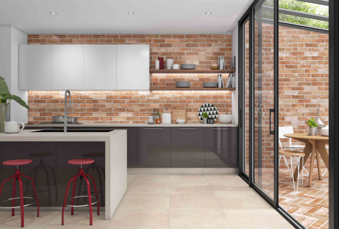Sierra Brick Tile by Jeffrey Court Available at World
