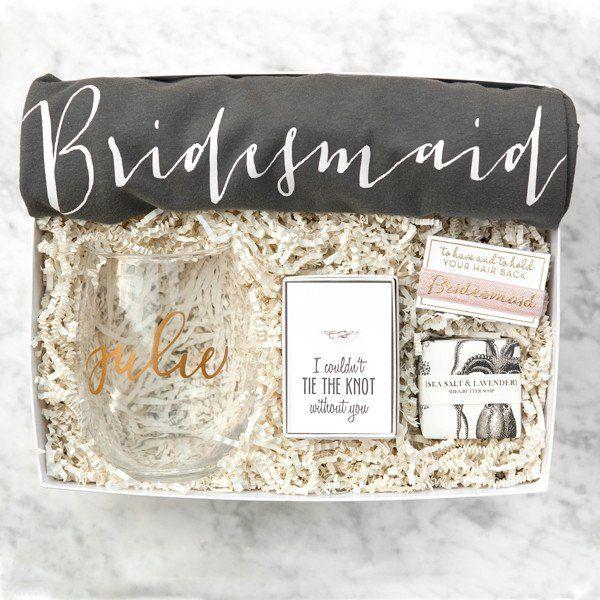 Bridesmaid Gift Box No 3 Bridal Party Gifts Bags Ideas
