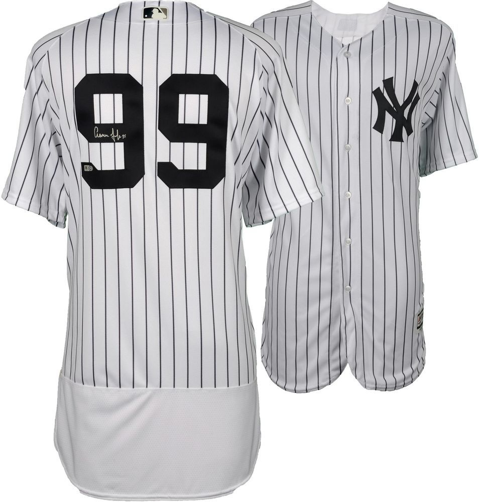 ff6c1cee3 Aaron Judge Yankees Signed Majestic White Authentic Jersey - Fanatics