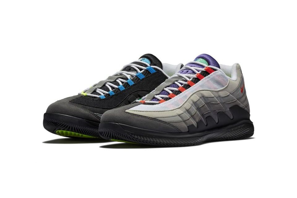 on sale bf00c aa3d7 Roger Federers NikeCourt Air Zoom Vapor X Meets the Air Max 95