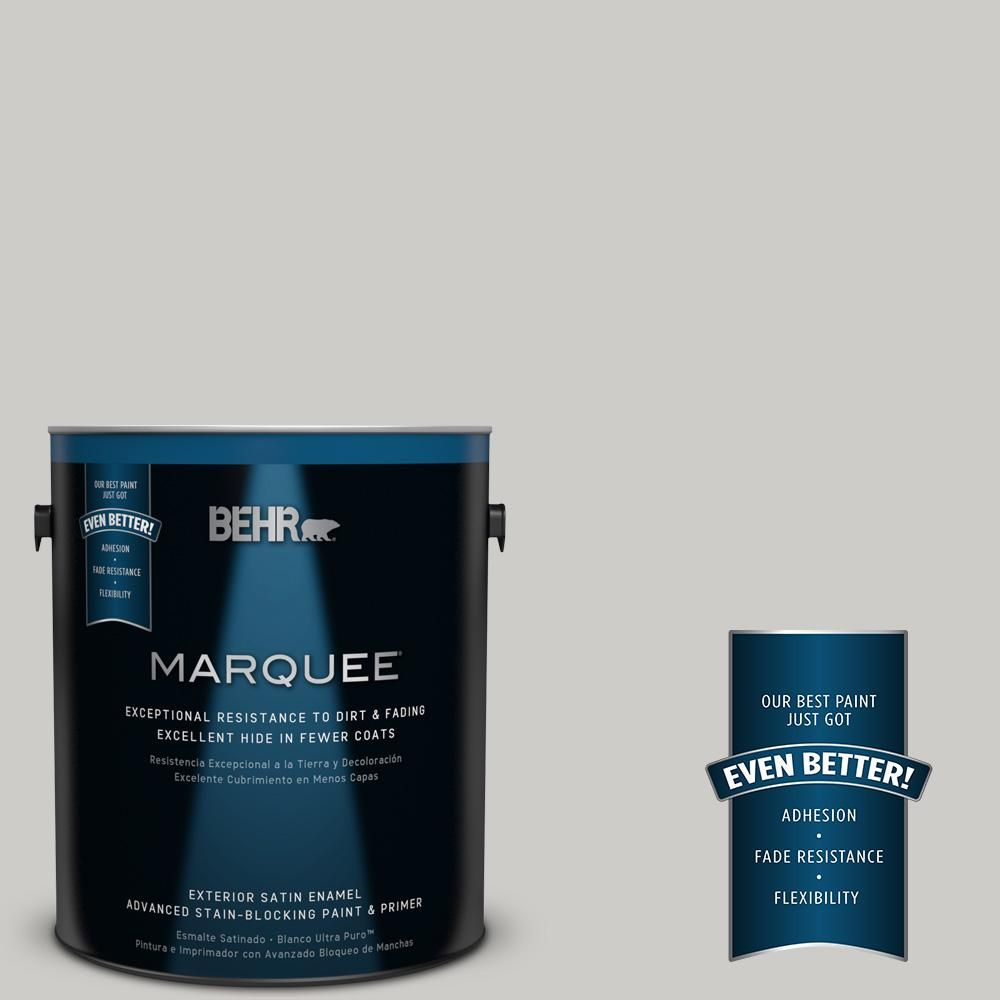 BEHR MARQUEE 1-gal. #QE-49 Mexican Silver Satin Enamel Exterior Paint