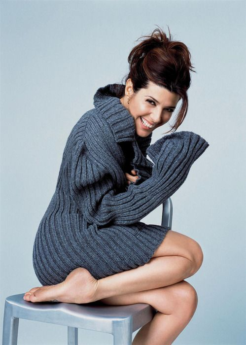 Marisa Tomei in a great chunky knit sweater