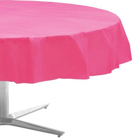 Bright Pink Round Table Cloth | 1ct, 84