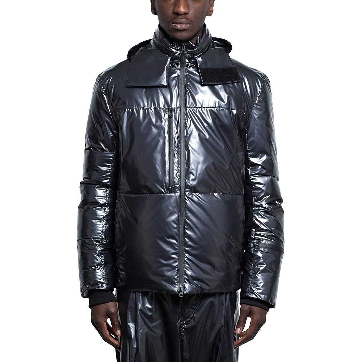 1fadc6d6eff58 Nylon down jacket from the F W2016-17 Y-3 by Yohji Yamamoto collection in  night metallic