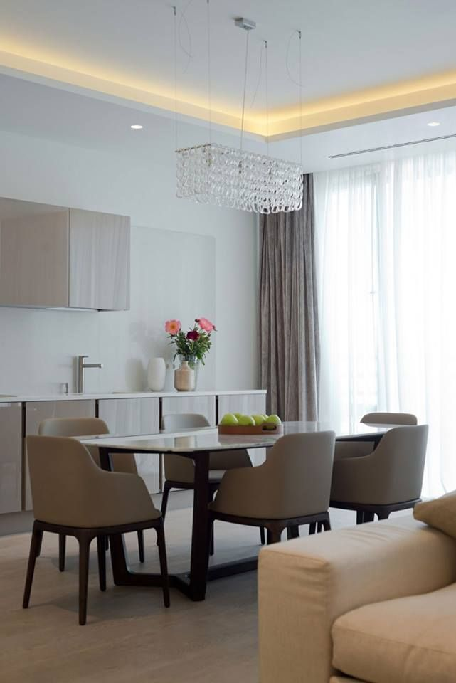 Elegant Contemporary Apartment Designs In Modern Architecture: Awesome  Moscow Apartment Design Interior In Dining Room Used Modern Minimalis.