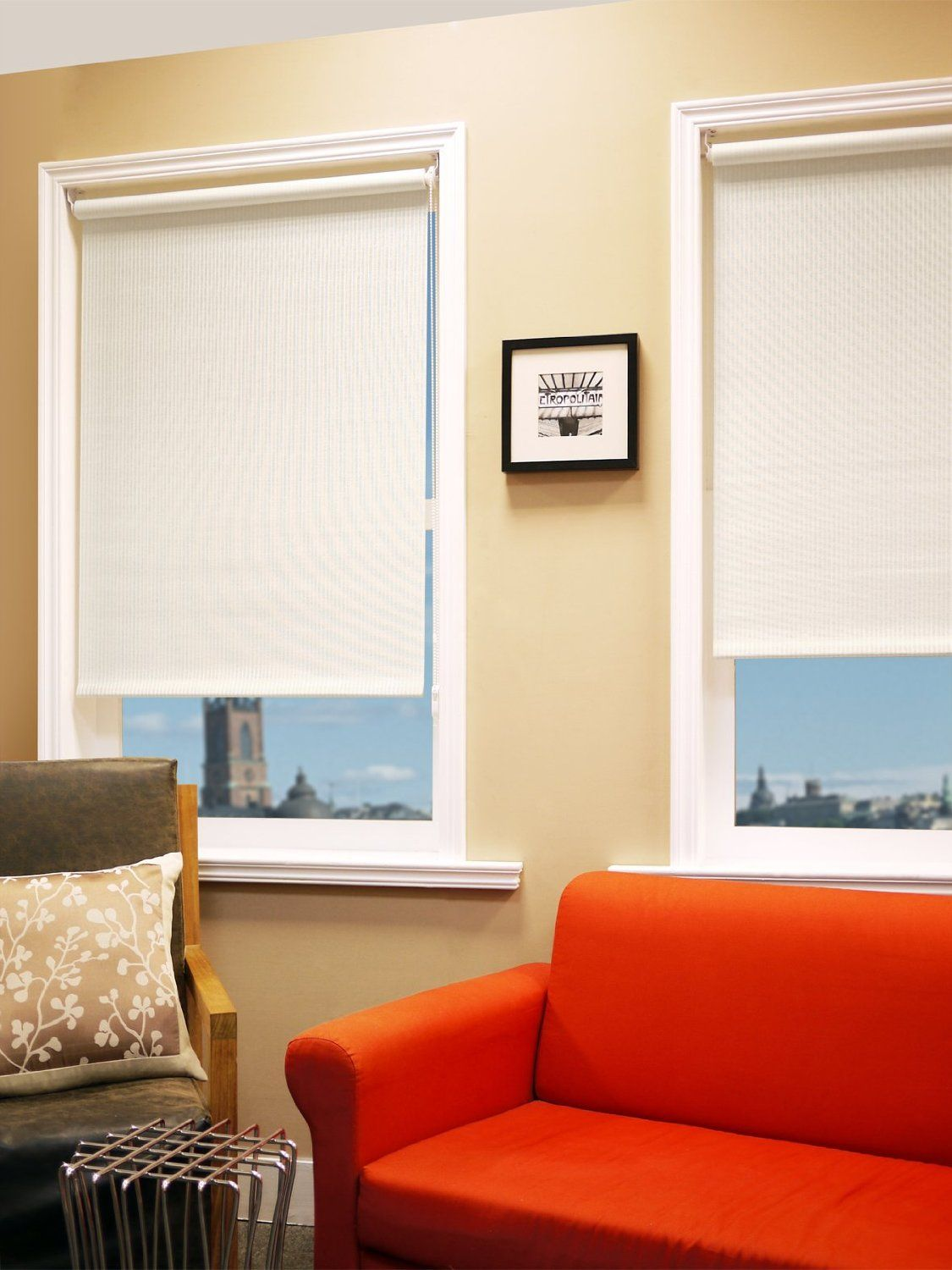 Chicology Montana 36 by 72-Inch Roller Shade, Rice ...