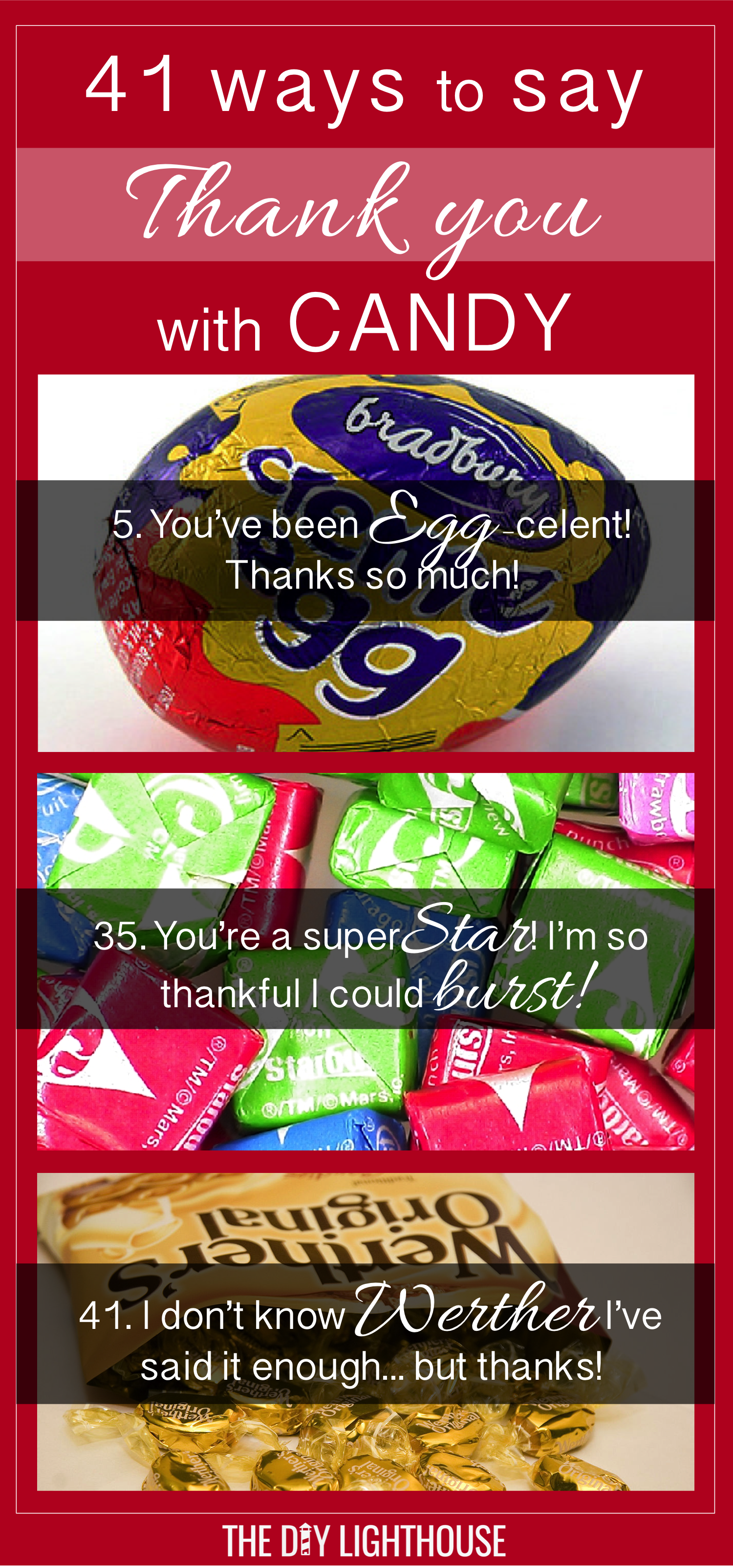41 Ideas For Cute Ways To Say Thank You With Candy Teacher