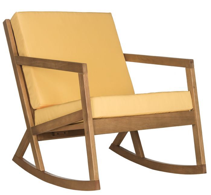Vernon Patio Rocking Chair in Yellow