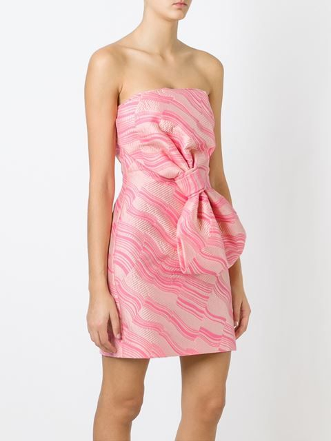 BOUTIQUE MOSCHINO  bow detail strapless dress