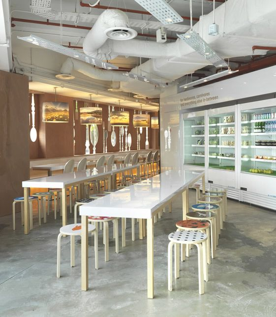 The salad shop singapore playful interior for