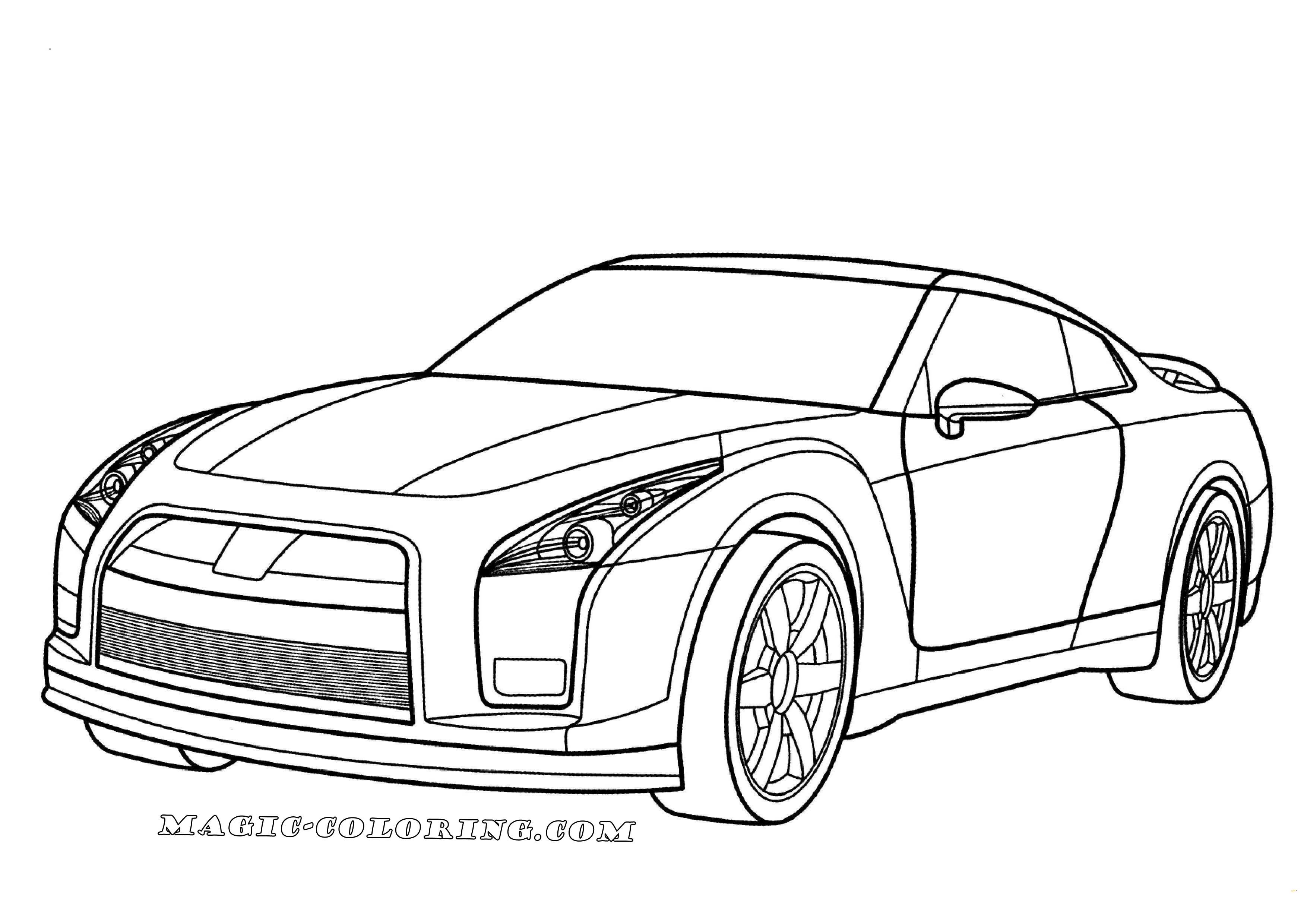 Gtr Printable Car Coloring Pages Photos