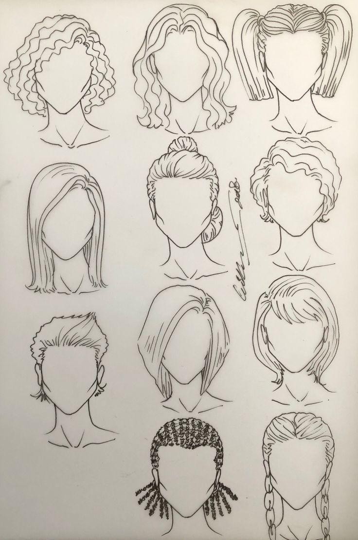 Photo of Drawing Hair Female Drawings