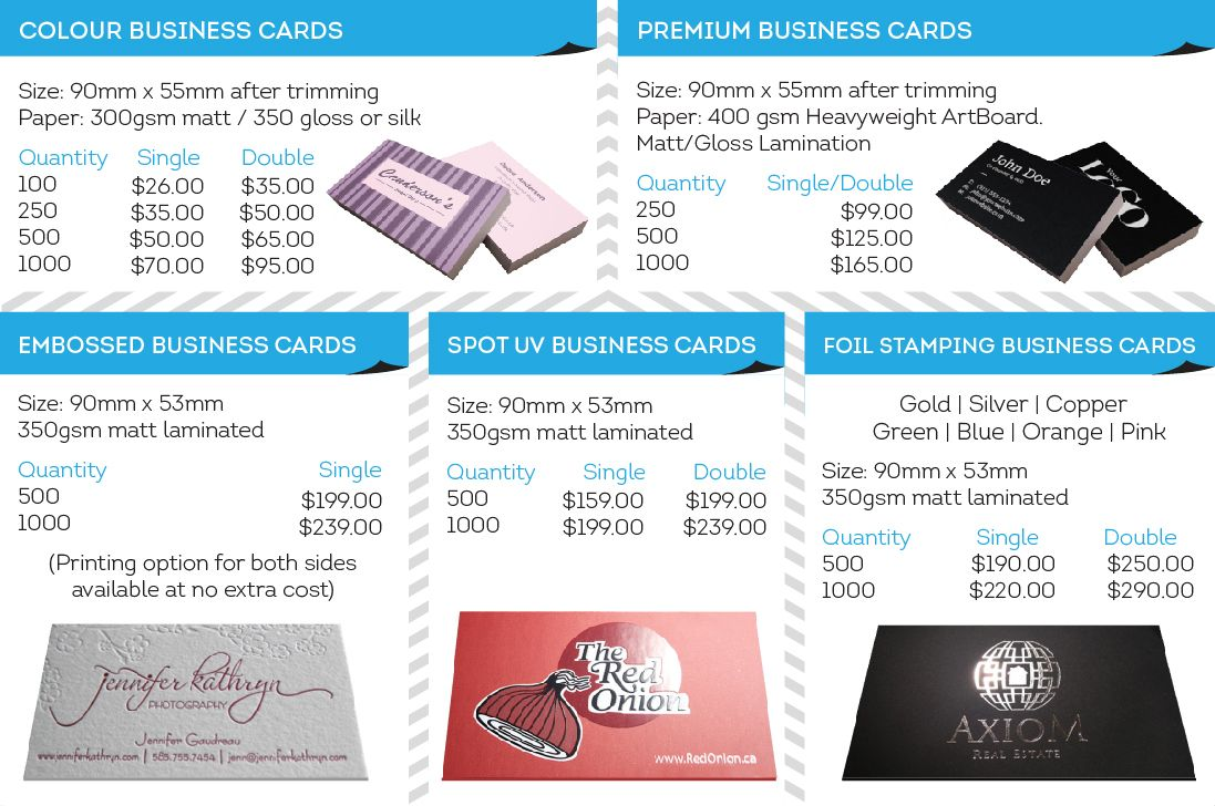 Australia based print shop business cards in brisbane