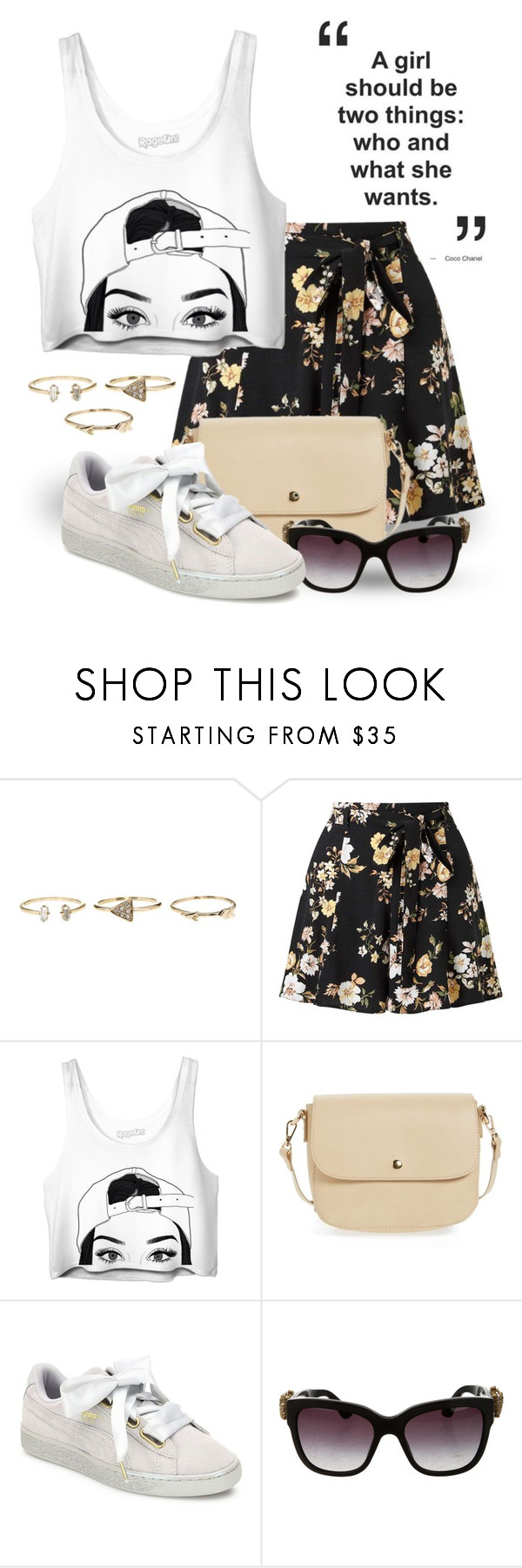 """""""Floral Shorts 3187"""" by boxthoughts ❤ liked on Polyvore featuring Miss Selfridge, BP., Puma and Dolce&Gabbana"""
