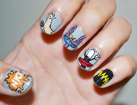 Our Favorite 90s Nickelodeon Cartoons Transformed Into Nail Art