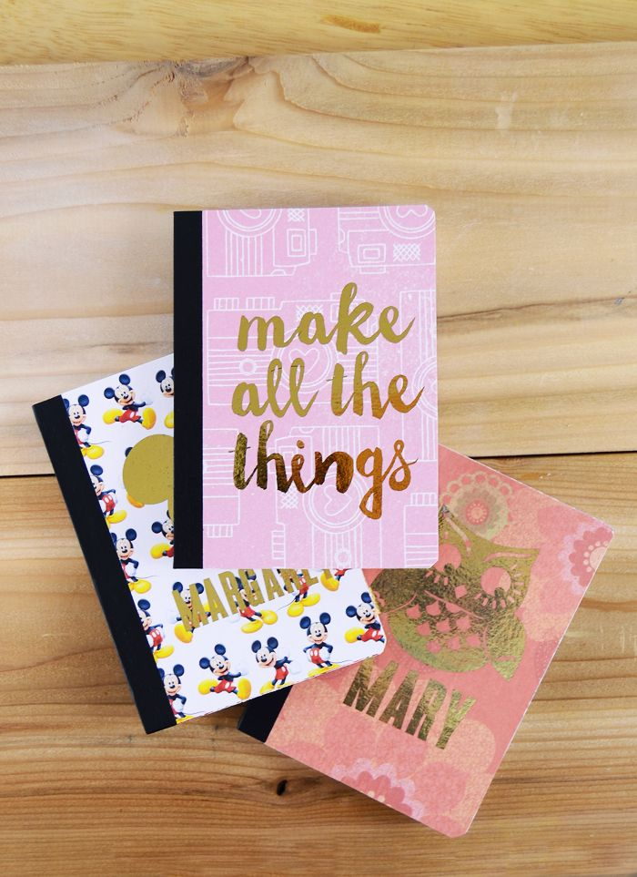 Gold Foil Mini Personalized Notebooks Mod Podge Projects
