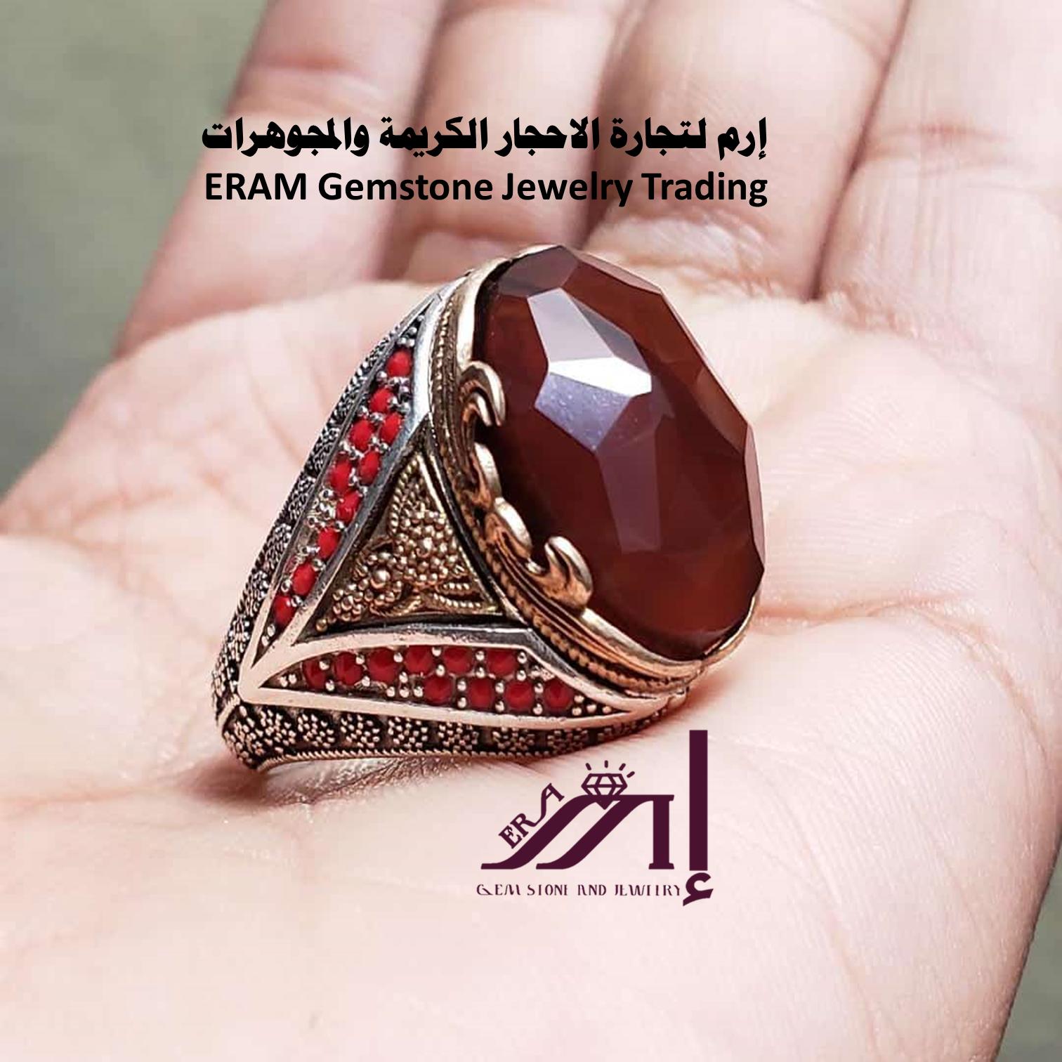 خواتم عقيق يمني احمر كبدي مركن Agate مميز طبيعي100 الموديل للعرض Gemstone Jewelry Gemstones Jewelry