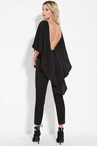 6acd0083b24f Open-Back Cape Jumpsuit