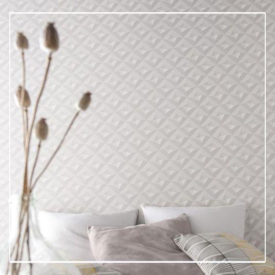 Papier Peint Sur Intisse Virtual 3d Blanc Mat Deco Blanc