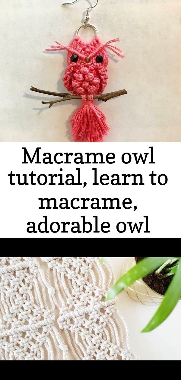 Macrame owl tutorial learn to macrame adorable owl pattern diy do it yourself pdf instructio 19 Macrame Owl Tutorial Learn To Macrame Adorable Owl Pattern  Etsy DIY  Mein...