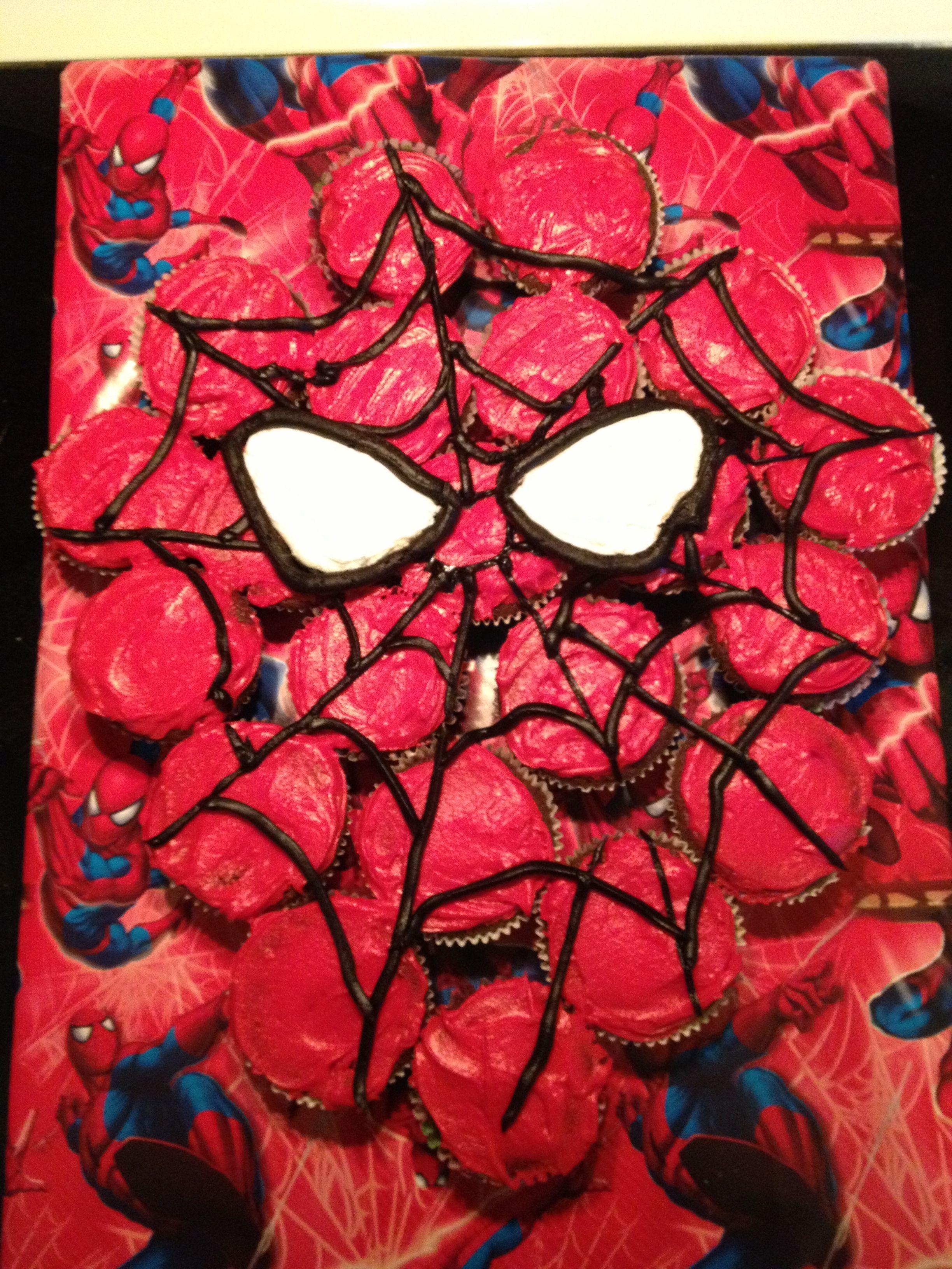 Spider-Man cake Dylan's 7th b-day | Spiderman cake ...