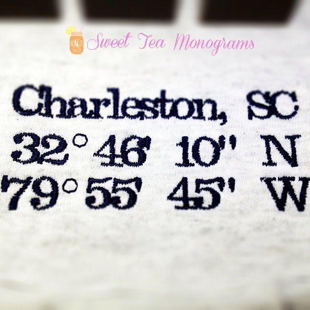 Charleston sc coordinates t shirt home sweet charleston for Charleston tattoo artists