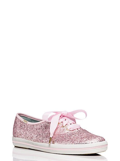 348c5fe7a1316b Keds for Kate Spade New York Pink Glitter Ribbon Lace Up Sneakers NIB Size  10  katespade  Keds