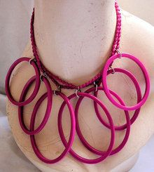 1980s neon choker  - Courtesy of morningglorious