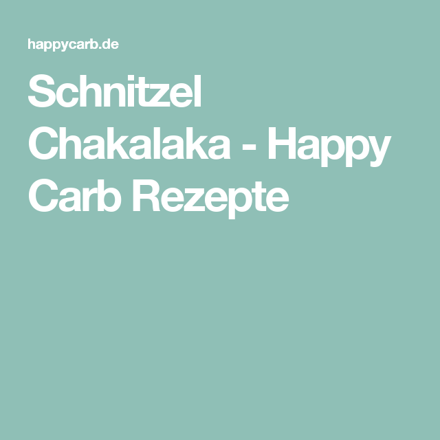 Schnitzel Chakalaka - Happy Carb Rezepte