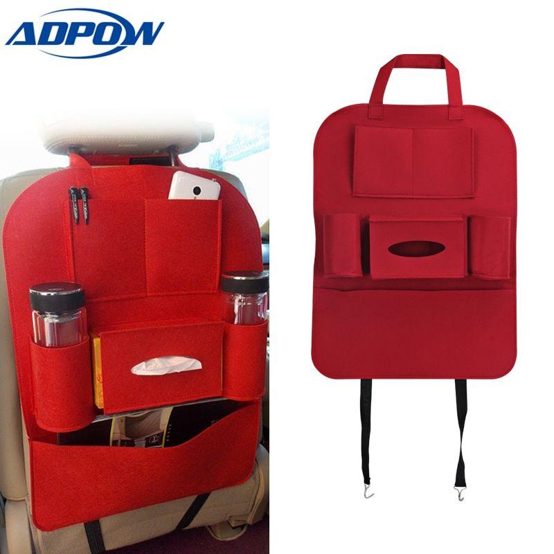 multi pocket storage bag car seat cover seat back box organizer