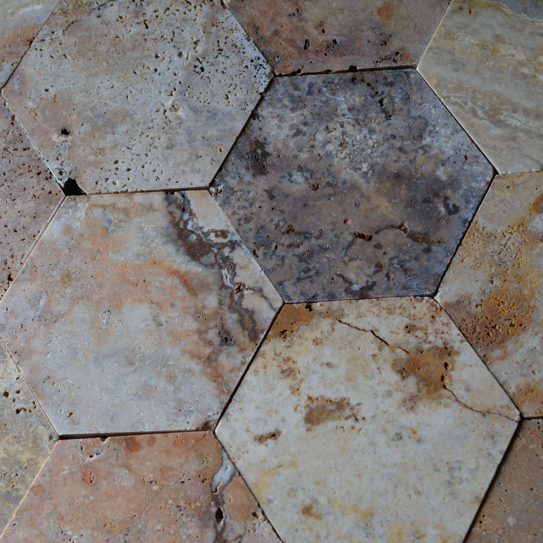 Hexagonal Honed Mosaic Tile