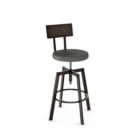 Architect Amisco Stool Upholstered Seat 40563 Adjustable Bar