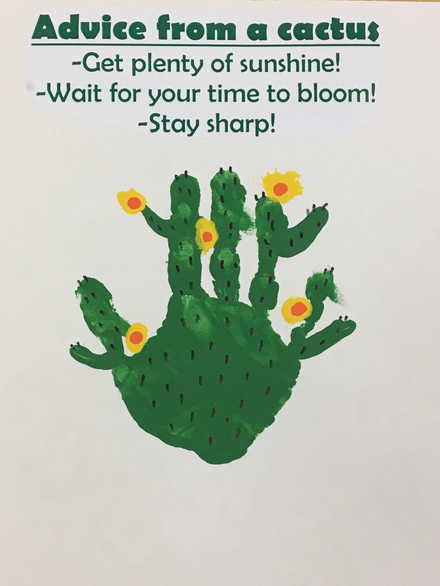 Preschool Handprint Cactus
